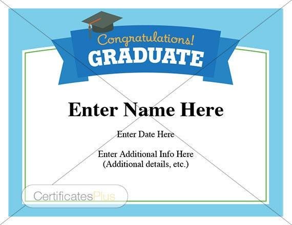 Graduation Certificate Graduation Wishes Congratulations