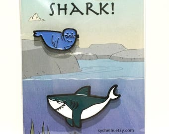 Enamel Pin: Shark!