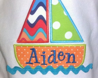 Fun Easy Sailboat Machine Applique Designs