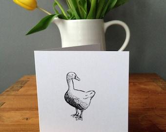 goose greetings card