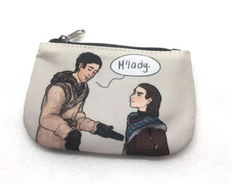 Game of Thrones Gendry and Arya Stark Gendarya art pouch coin purse wallet