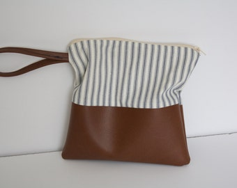 Striped Colorblock Wristlet