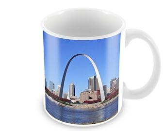 Gateway Arch Ceramic Coffee Mug    Free Personalisation