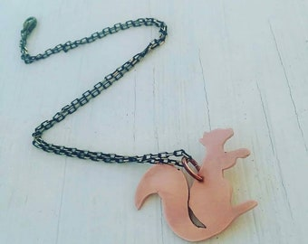 Copper Squirrel Necklace