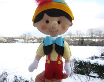 Pinocchio for room or party decoration - Telling stories / Pinocchio doll / Nursery decor / Babyroom decor /  Fairy tale stories