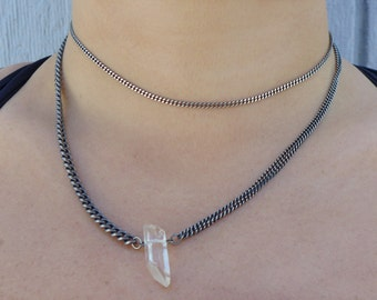 Dainty Silver Micro Curb Chain Choker Necklace  | Chain Choker | Silver Choker | Dainty Choker | Thin Choker | Delicate Choker | Adjustable