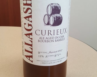 Allagash Curieux - Large Beer Bottle (Bomber) Candle