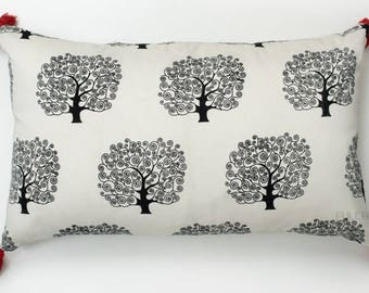 White Silk Tree printed Decorative Pillow