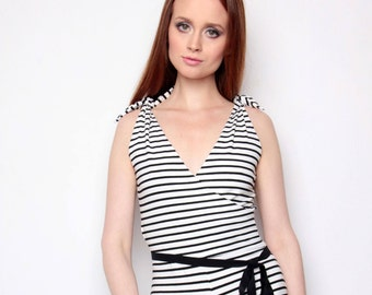 Trendy striped jumpsuit is a product that gives you comfort and stylish look