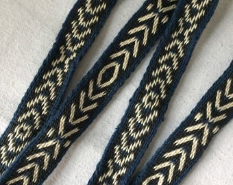 Hand Woven / Card Woven Belts with Brass rings