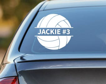 Volleyball Decal, Personalized Volleyball Decal, Volleyball Car Decal, Volleyball Sticker, Volleyball Player, Laptop Sticker, Laptop Decal
