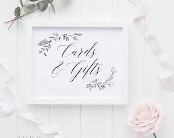 Cards and Gifts Sign, Cards and Gifts Printable Sign, Wedding Signage, Gift Table Sign, Wedding Printable, DIY, PDF Instant Download #E008