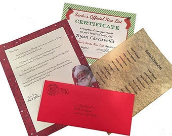 North pole letter etsy personalized letter from santa claus bundle including letter nice certificate and nice list postmarked from the north pole free shipping spiritdancerdesigns Choice Image