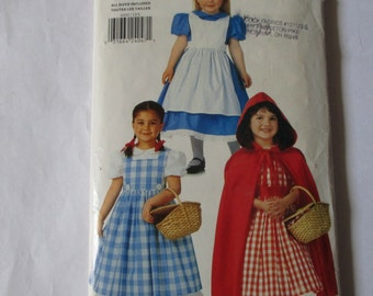Butterick 4600 all sizes XS S M L  girl's costume dress pinafore cape Red Riding Hood