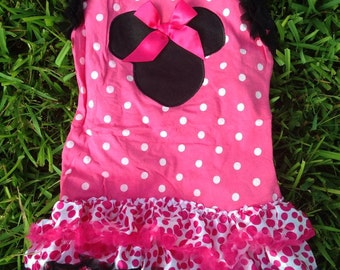 Hot Pink Minnie Inspired Dress