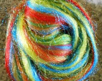 """Multicolor Trilobal Nylon Blending Fiber 1 ounce """"Carnival"""""""