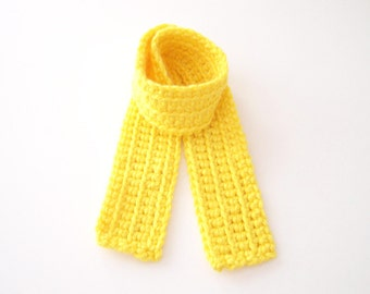 Bright Yellow Child's Scarf, Kid's Scarf, Toddler Scarf, Yellow Kid's Scarf