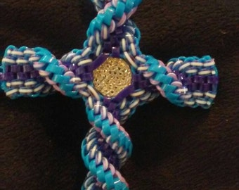 Twisted rexlace cross with charm