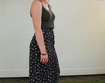 1990s Gap long skirt/ 1990s floral maxi skirt/ vintage skirt