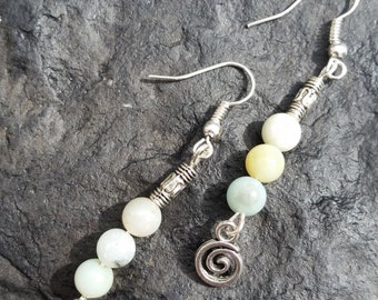 Hand Crafted Genuine Natural Amazonite Drop Earrings