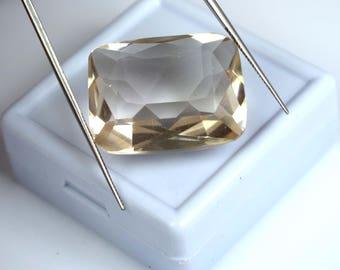 33.80 Ct. Cushion Cut Brazilian Orange Topaz Loose Gemstone