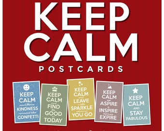 Keep Calm Postcards | Set of 12 | 4x6