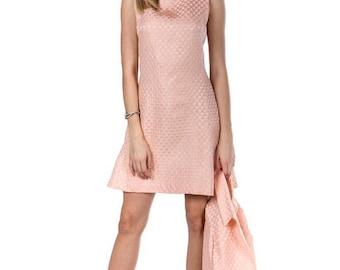 Blush Silver Brocade Dress