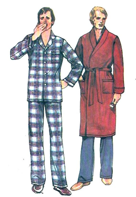 Vintage Herren Gewand Pyjamas Väter Väter Ehemänner Nähen