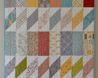 Baby Quilt, Moda Treehouse Club Fabric, Gender Neutral, Boy, Girl