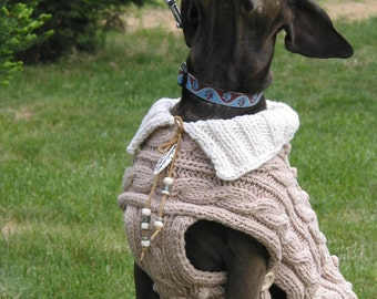 Dog sweater LOUISIANA in cotton knit