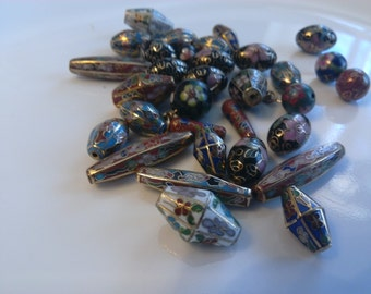Enameled Beads for Jewelry Making