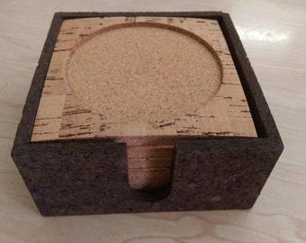 LoT 10 sets Cork Coasters Sets...Bulk LoT