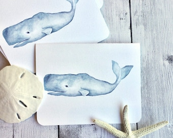 Whale Note Cards, Set of 6