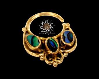 Brass Septum Ring - Septum Jewelry - Septum Piercing - 18G Septum Ring - Tribal Septum Ring - Indian Septum Ring - Septum Nose ring (B39)