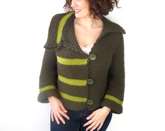 St. Patrick's Day Green Retro Cardigan by Afra