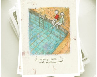 """Postcard from the series """"Something good and something real - 3"""""""