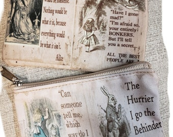 Alice in Wonderland Coin Purse -- Free Shipping