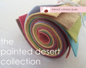 9x12 Felt Sheets - The Painted Desert Collection - 8 Sheets of Wool Blend Felt