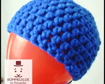 Blue baby Hat / Cap infant / baby winter Hat / KU 39-44 cm / unisex