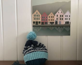 Sognefjord Norway Knitted Beanie