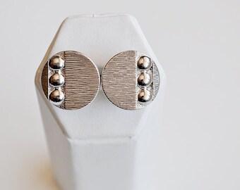 Silver Round Mod Cufflinks Swank