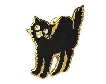 Scaredy cat Enamel Pin