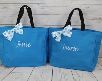 7 bridal party tote bags , bridesmaid gifts , tote bag , beach bag , bachelorette party gift , bridal party gifts, bridemaid tote