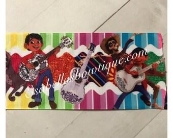 Coco inspired ribbon;3inch ribbon;coco ribbon;ribbons ;hair bow accessories ;hair bow making;coco ribbon;landofthedead;diadelosmuertos
