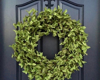 Spring Boxwood Wreath, Green Boxwood Wreath, Realistic Door Wreaths, Natural Looking Boxwood Wreath, Artificial Boxwood Wreaths