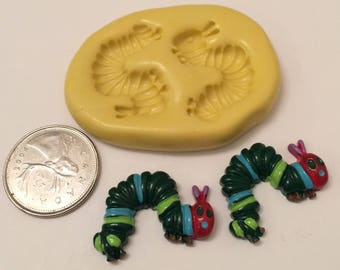 Caterpillar Worm Animal Silicone Mold Set