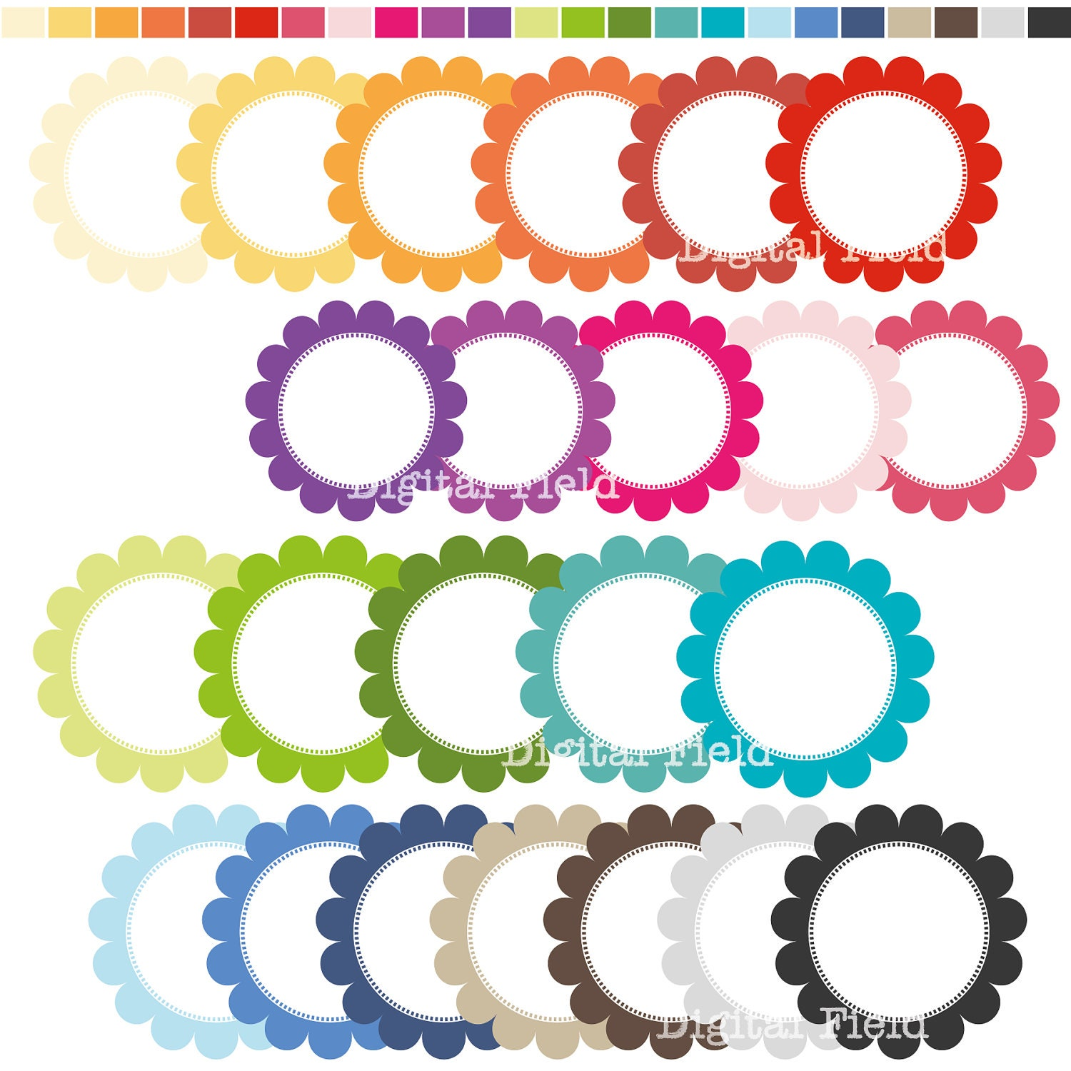 Free Scalloped Circle Clip Art - Awesome Graphic Library •