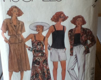 """McCall's Jacket, Camisole, Skirt, Pants and Shorts Pattern 3071 Size: 16, Bust 38"""", Waist 30"""", Hip 40"""""""