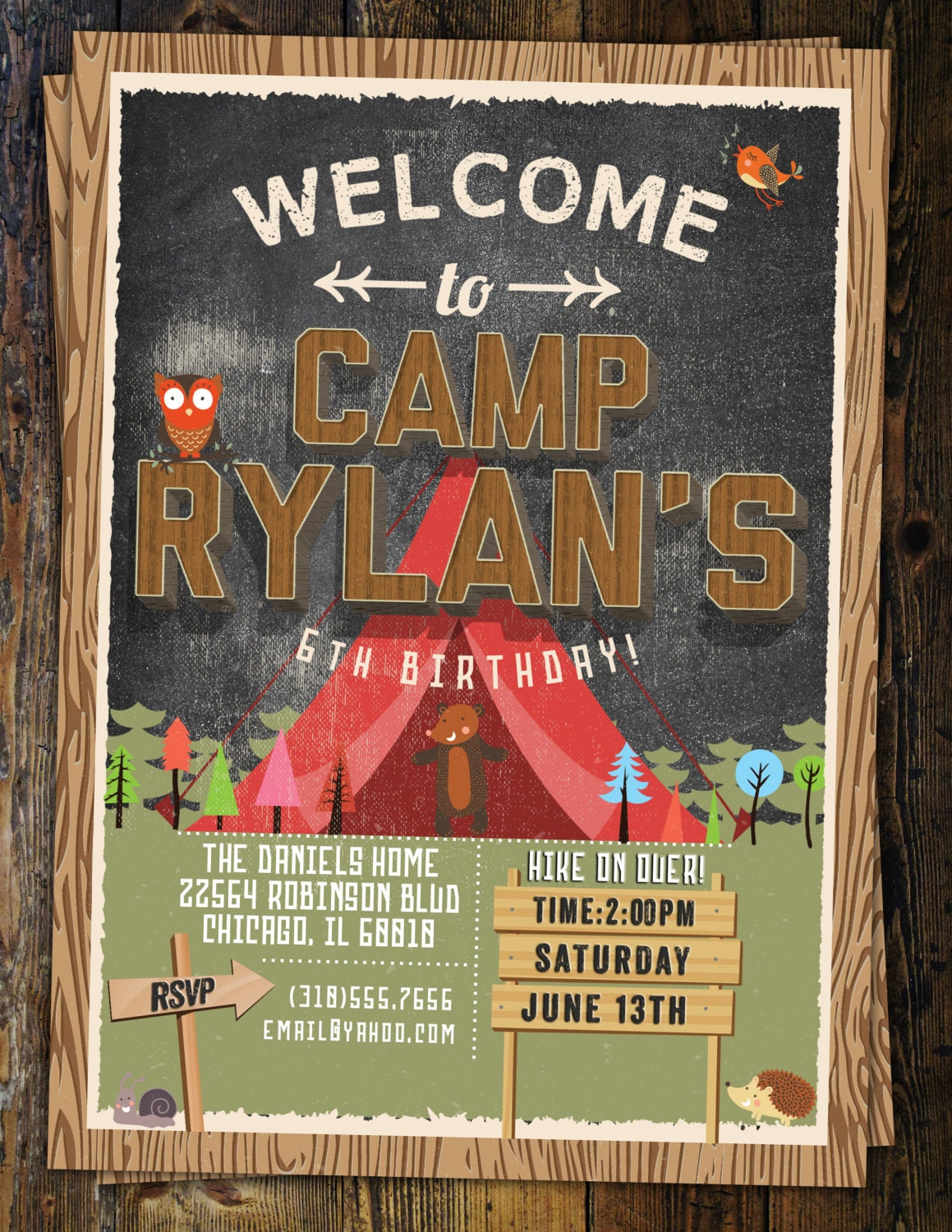 Camp birthday camping birthday animals invitation invite camp birthday camping birthday animals invitation invite outdoor adventure party wilderness lumberjack boy scout kids birthday filmwisefo Images