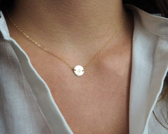Mother's Day Gift, Initial Necklace, Sterling Silver Initial Necklace, Gold Initial Necklace, Rose Gold Initial Necklace
